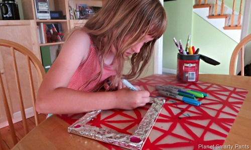 Adding Color to Embossed Photo Frame