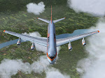 Aero Mexico climbs to cruising altitude.