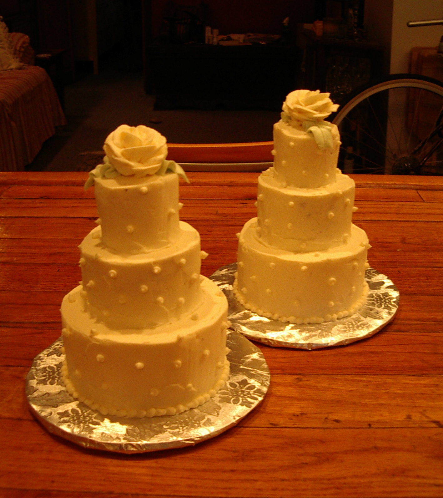 Mini Tiered Wedding Cakes