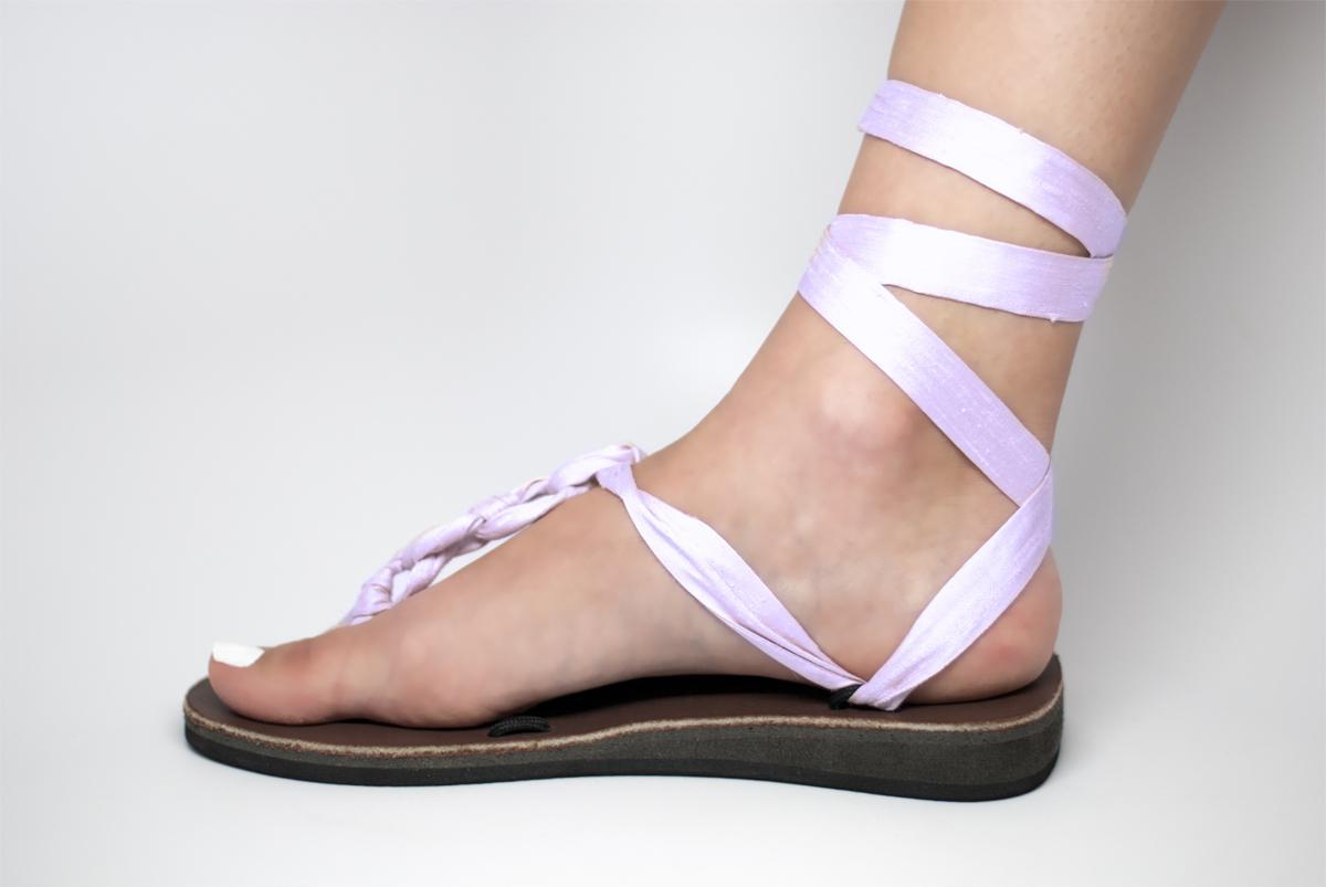 Lilac Wedding Sandals