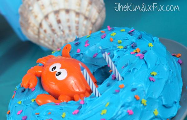 Crab blue ocean cake