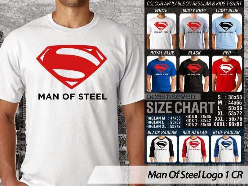 Kaos Superman Hitam Man Of Steel 40 Movie Series distro ocean seven