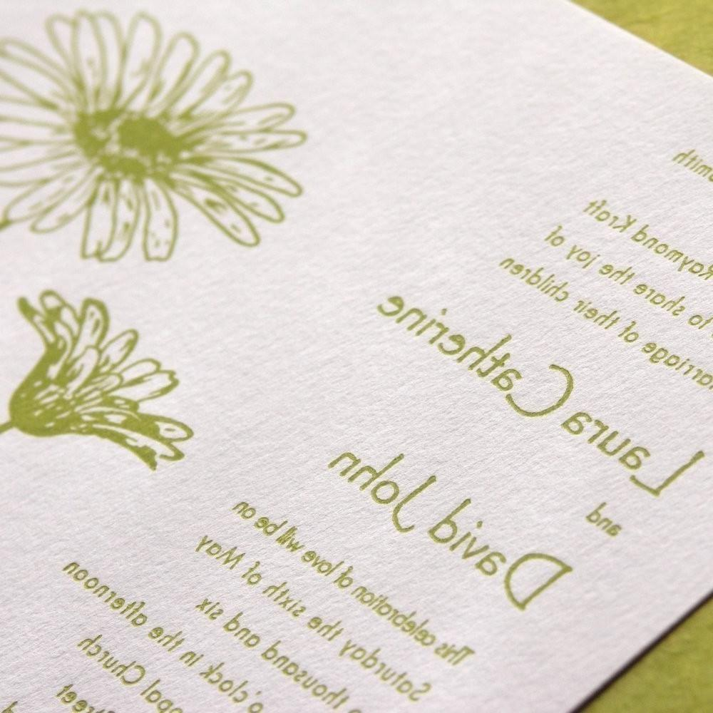 Daisy - Letterpress Wedding