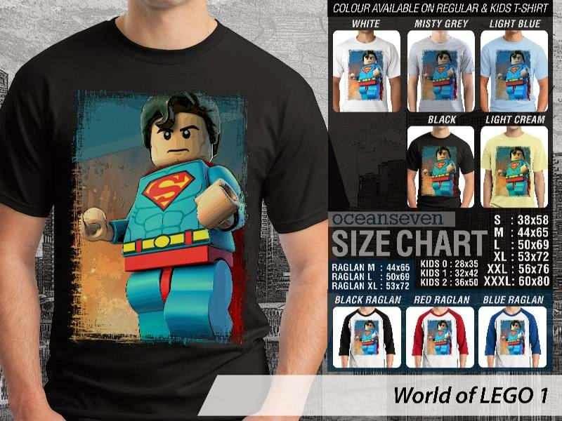 Jual Jual KAOS Lego Gambar Superman distro ocean seven