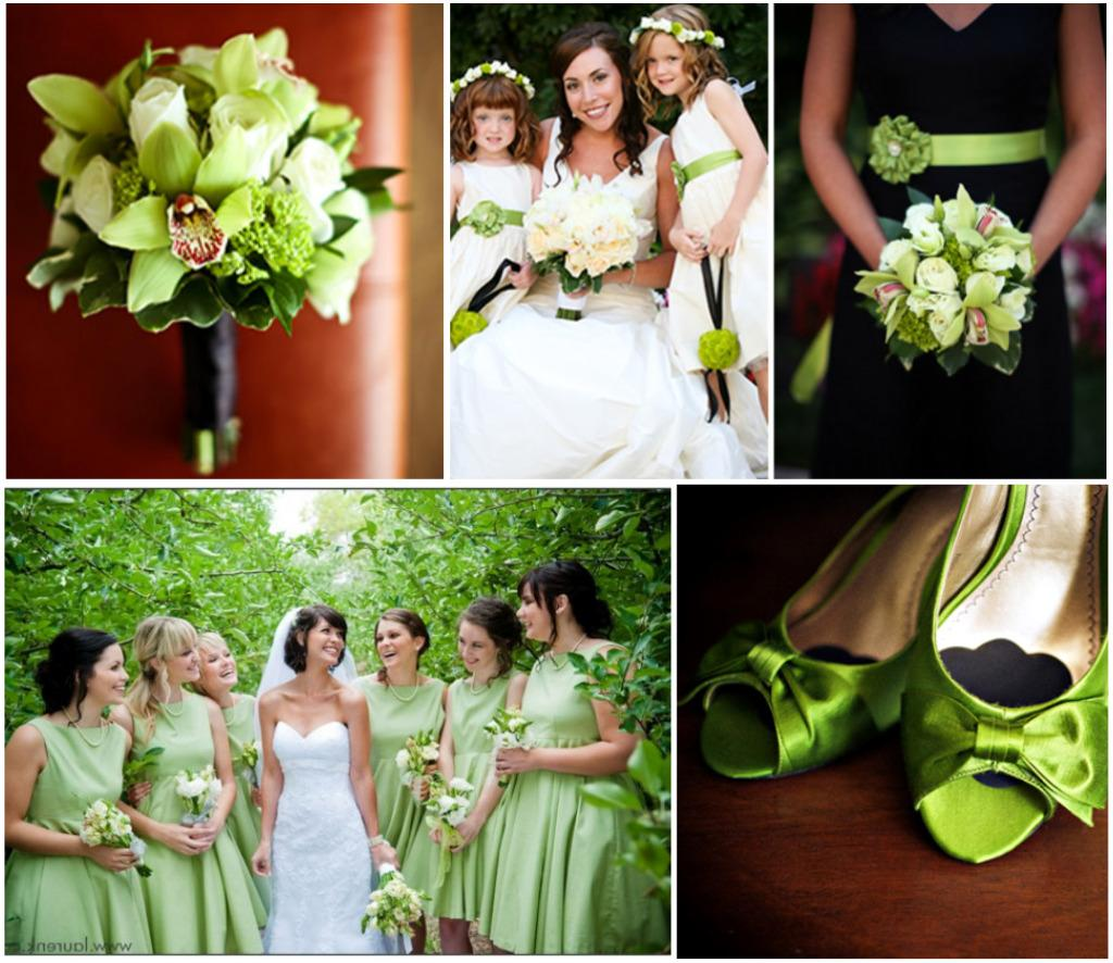 apple green wedding colour