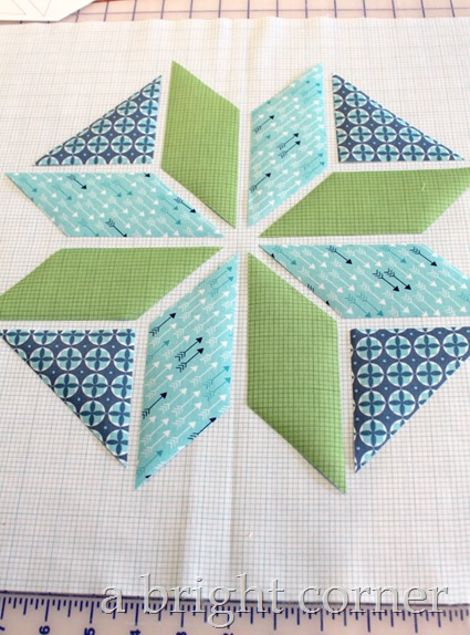 Winter Star Pillow tutorial 8