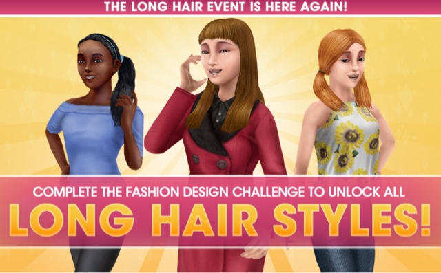 Sims Freeplay Long Hair Event Is Back Again Greenoid Gemzicle