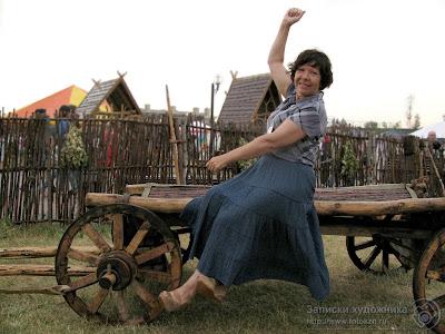Наталья Чернова в Культурном парке Универсиады в Казани