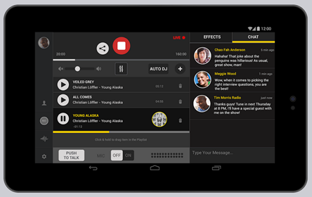 Live Radio and Podcasting Studio for iOS and Android
