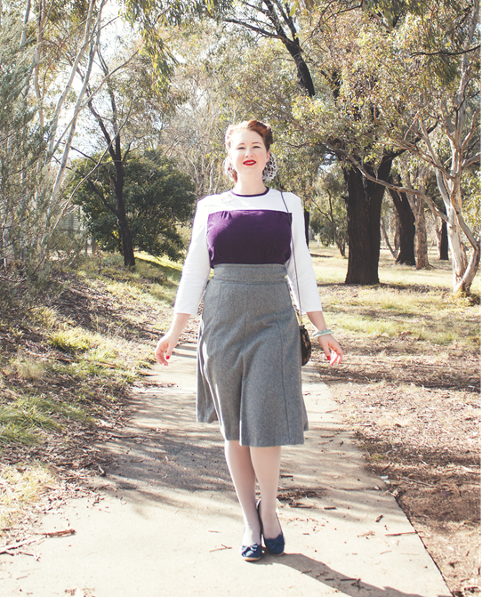 A daytime 1940's outfit with Simplicity 3688 | Lavender & Twill