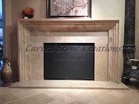 Sahara Gold Marble Fireplace