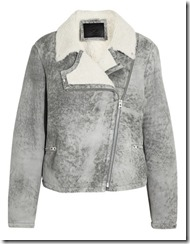 MQ Alexander McQueen distressed shearling jacket