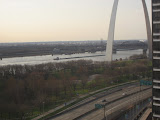 The St Louis Arch from our hotel room window 03202011d
