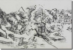 Huang-Binhong-Sketches-of-Drawings-Done-from-Life-while-in-South-China-1940s