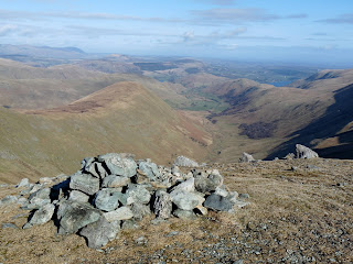 A great view from Rampsgill Head Summit. The Nab is on the left of Ramps Gill far below us.