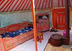 I jeszcze jurta tradycyjna - tu nie pali się ani drewnem ani węglem... Jest ekologicznie