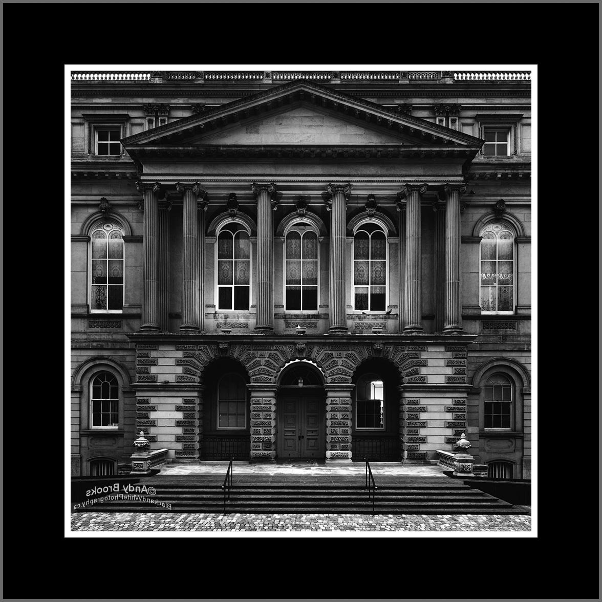 Osgoode Hall Toronto black and