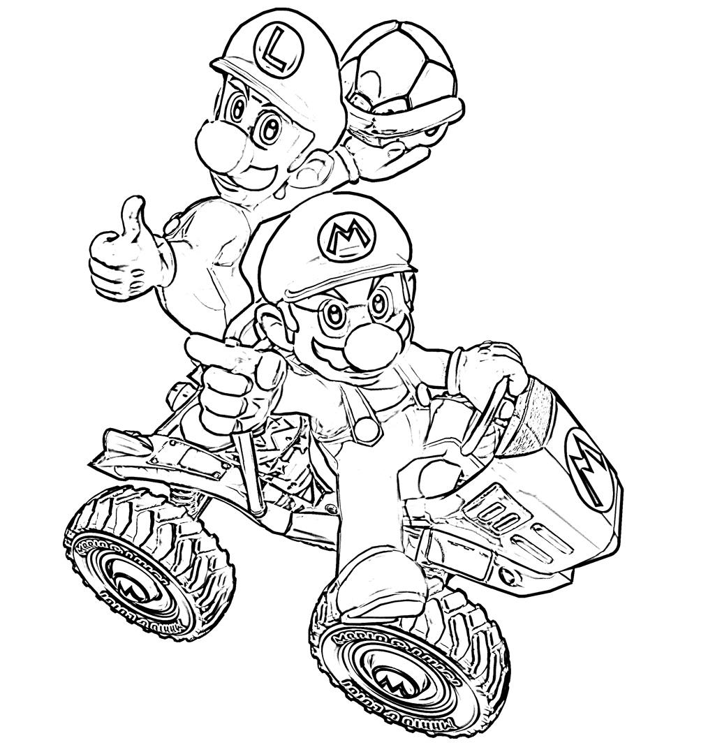 Dessin a colorier de mario - Mario gratuit ...