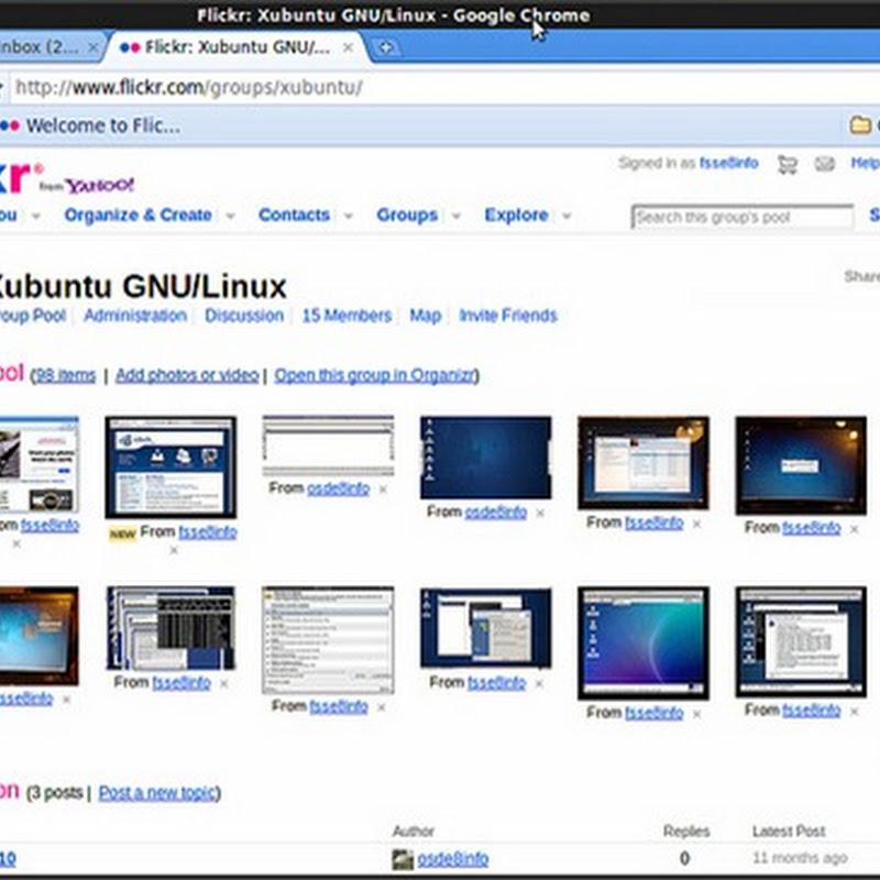 Aggiornamento di Google Chrome su Xubuntu.