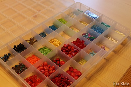 another tray of beads
