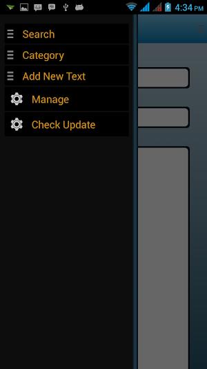 menu slide Auto text