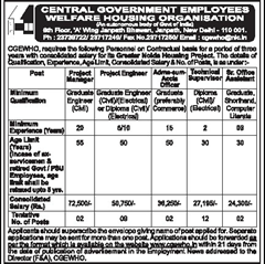CGEWHO Advertisement 2015 www.indgovtjobs.in