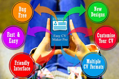 easy cv maker pro resume maker for fresher jobs free app for