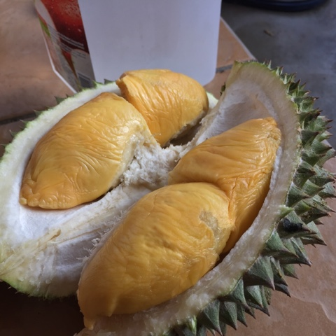 raja buah, durian, kerepek pisang, pisang tanduk, musang king