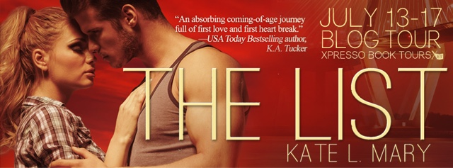 Blog Tour: The List by Kate L. Mary