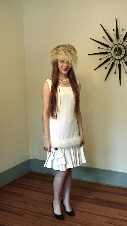 Rashawn\'s blog: Vintage 60s White Winter Wedding Dress Rayon and ...