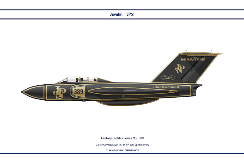 Gloster Javelin FAW4 in John Player Special Lotus livery