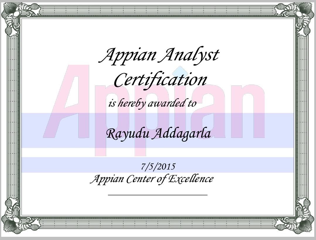 Business Process Management (BPM): Appian Certification