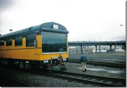 End of Chicago & North Western Inspection Car #420 Fox River at Union Station in Portland, Oregon on September 26, 1995
