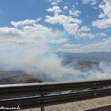 Incêndios na estrada para Quito, Equador