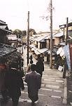 Seven-Year Staircase, near Kiyomizudera Temple, Kyoto, Japan.