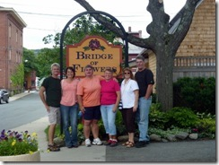 Dan, Tricia, Gin, Syl, Darlene and Doug at the Bridge of Flowers