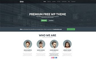 Elite - Free One Page WordPress Theme