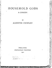 Cover of Aleister Crowley's Book Household Gods Comedy