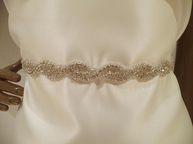 crystal wedding sashes