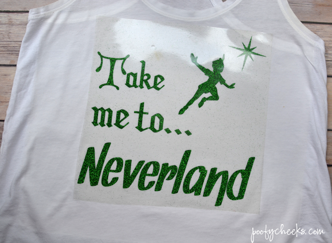 FREE Silhouette Studio File - Take me to Neverland. DIY Disney vacation shirt.