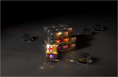 Barcelona-FC-Logo-in-Cubic-Glass-HD-Wallpaper