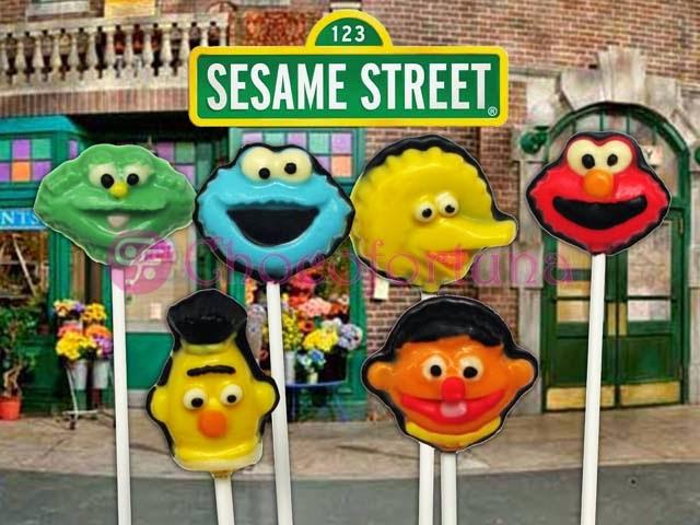 Cokelat coklat CF Lolipop Sesame Street Elmo Bernie BigBird