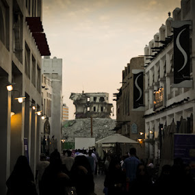 Distressed Doha by Anthony Schwab - Landscapes Travel ( tear down the old and put something new up, buildings, travel )