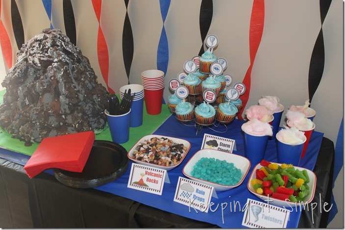keeping it simple boy birthday party idea natural