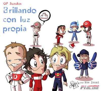 анимешный рисунок Noe Izumi по Гран-при Японии 2011
