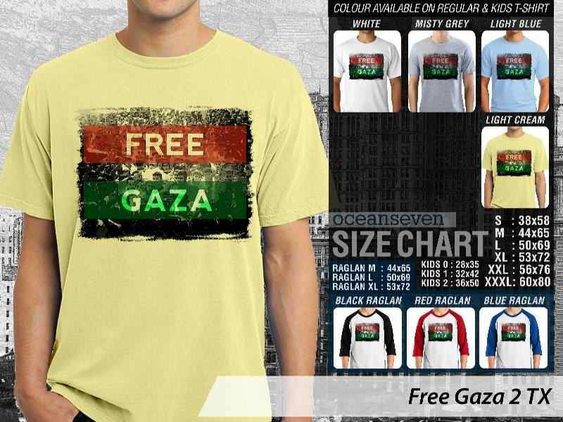 Kaos Muslim Islam Gaul Free Gaza 2 Free Gaza distro ocean seven