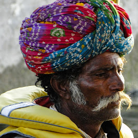 Old Man in Udaipur, Rajasthan by Karin Wollina - People Portraits of Men ( udaipur, rajasthan, india, man, portrait,  )