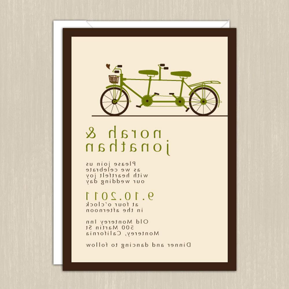 Tandem Bicycle Wedding