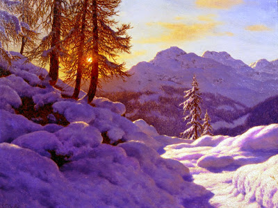 Ivan Fedorovich Choultse - Snowy Landscape