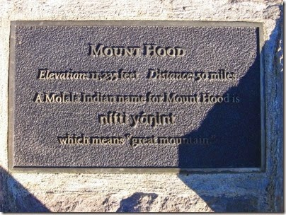 IMG_9236 Mount Hood Plaque at Council Crest Park in Portland, Oregon on October 23, 2007